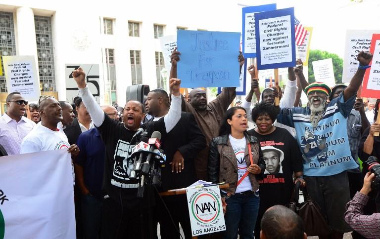 Протесты против оправдания Циммермана 2013 год