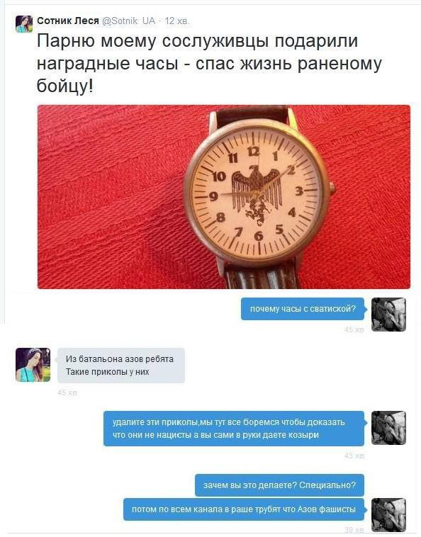 Часы со свастикой