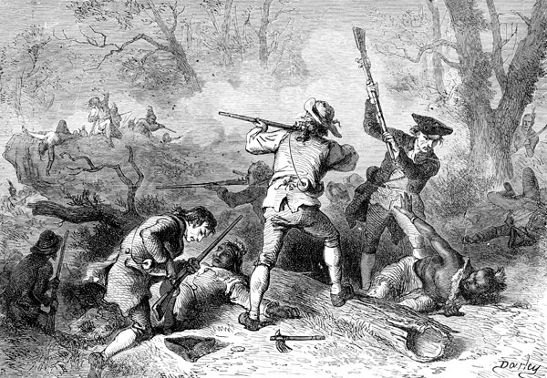 Conflict with the Indians on the Southwestern Frontier.' Wood engraving after Felix O.C. Darley (1821-1888)