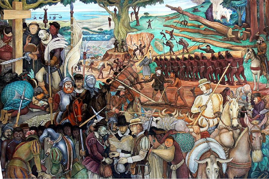 Эксплуатация Мексики испанскими завоевателями.png