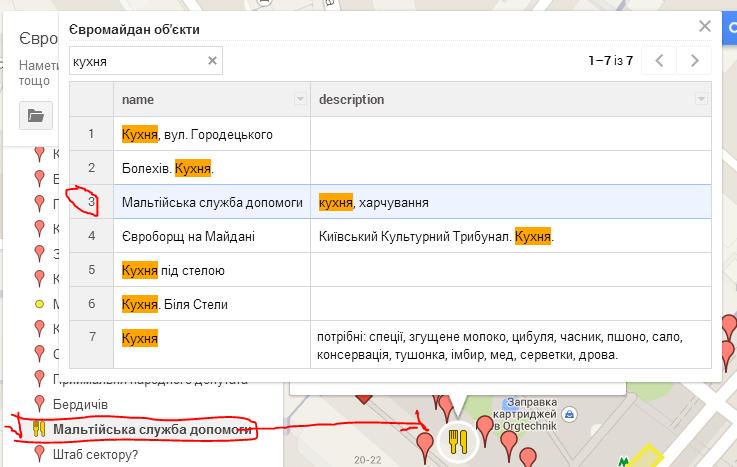карта Євромайдану - результати пошуку