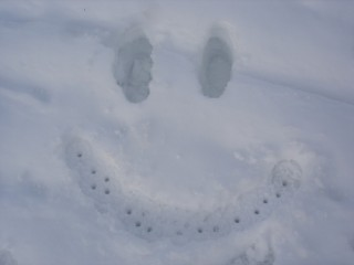 Snow smiley!
