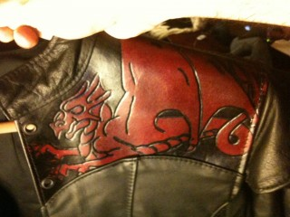 Leather doublet: close-up