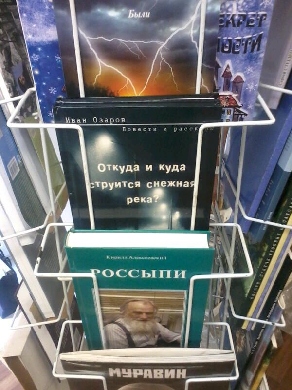 книжка на стеллаже