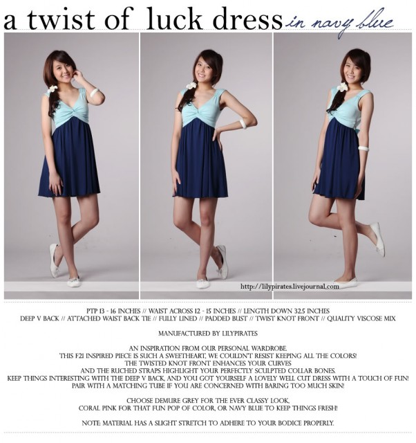 604e822143 Lilypirates A Twist of Luck Dress in Navy Blue