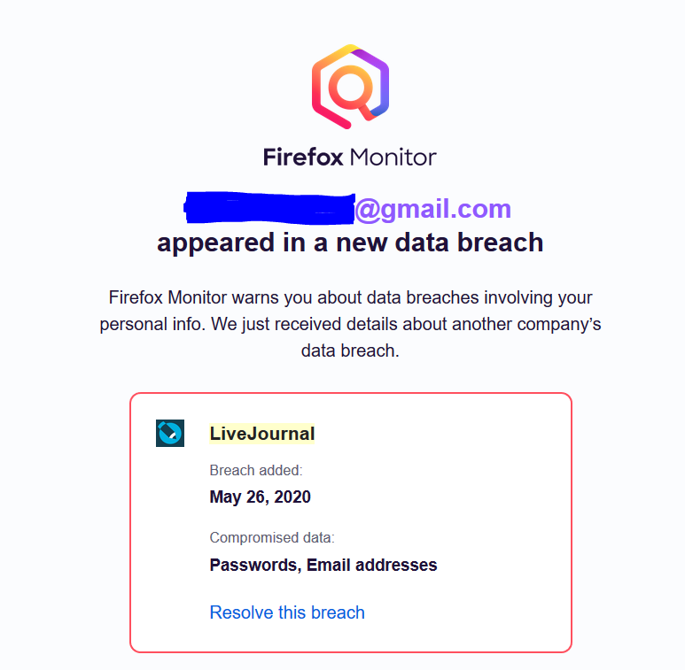 5/26/2020 breach happened after LiveJournal became active on Twitter since this week -- coincidence?