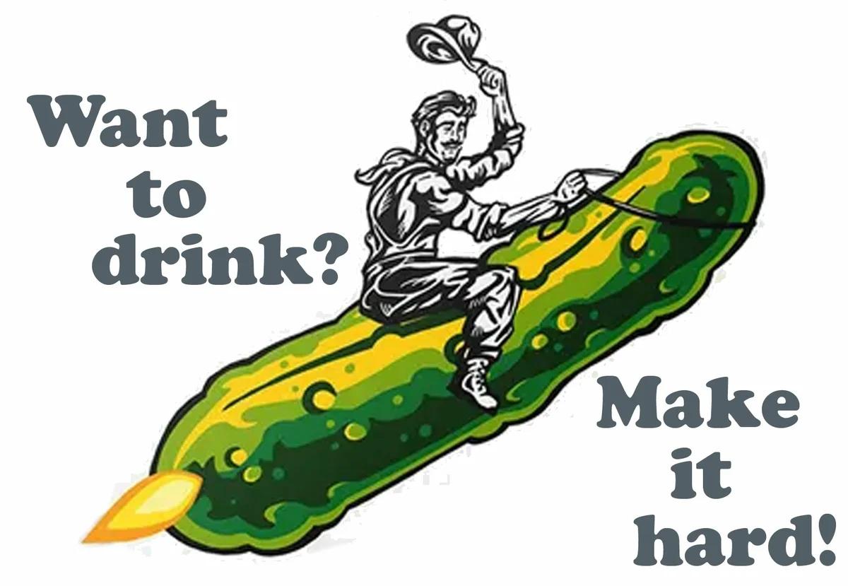 По мотивам оформления хард зельцера Hard Pickle 6-)