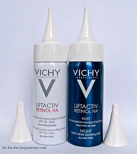 Vichy Liftactiv Retinol HA. Ночной и дневной крем против морщин. Отзыв.