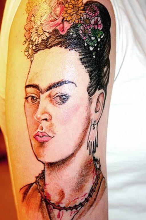 Автопортрет Фриды Кало татуировка