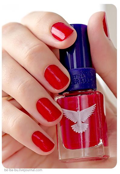 Маникюр на коротких ногтях с лаком Christina Fitzgerald - Jade #Bollywood Red. Отзыв, обзор, свотчи. Swatch. Review.