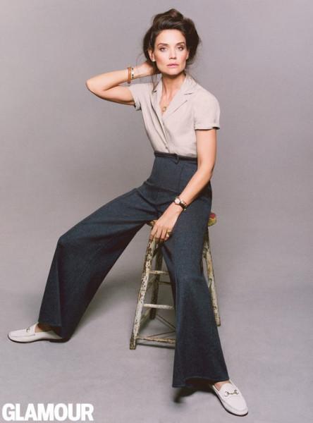 Образы: Рианна в ночной рубашке=Кэти Холмс в Glamour. Ищем различия