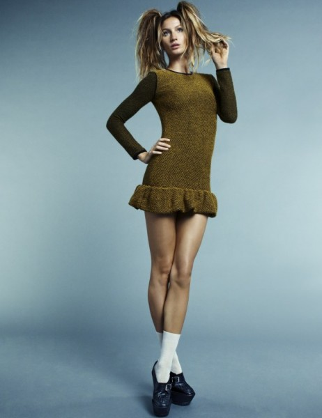 Забавное прошлое: Жизель Бундхен в роли школьницы в i-D Magazine Pre Fall 2011