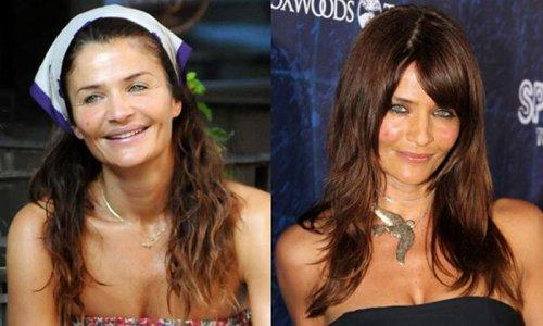 знаменитости без макияжа Хелена Кристенсен.