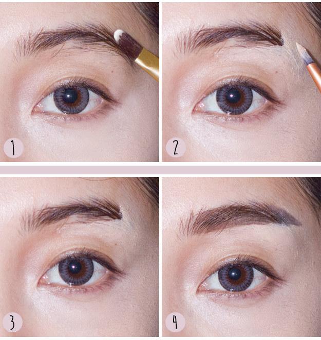 Как нарисовать прямые брови - новый азиатский тренд