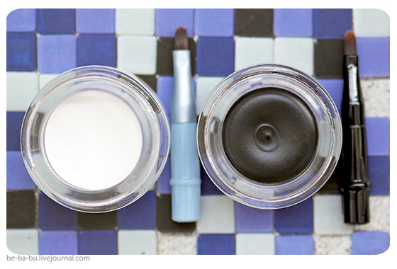 Гель-подводки для век от Mary Kay - черная и белая. Отзыв, обзор, свотчи, макияж.