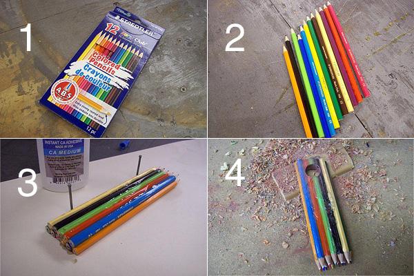 Делаем необычное кольцо из набора цветных карандашей