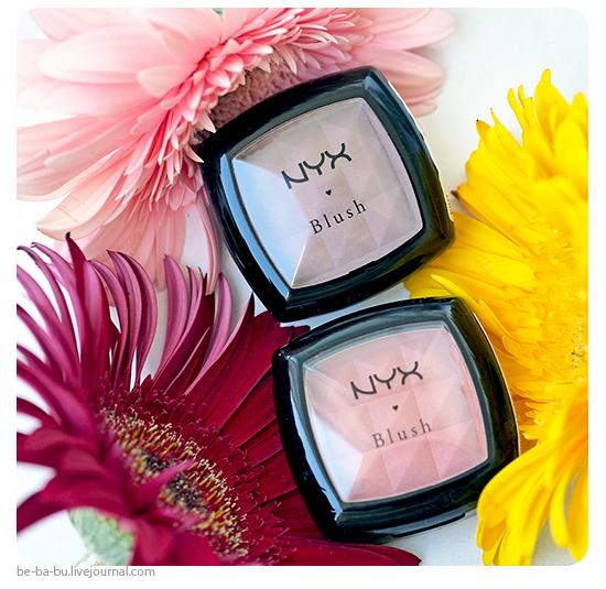 Контурируем лицо компактными румянами NYX Power Blush - Taupe, Mauve. Обзор, отзыв, свотчи, макияж. Swatch, makeup