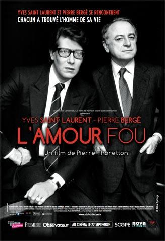 Ив Сен Лоран. Сумасшедшая любовь / L'amour fou кино о моде
