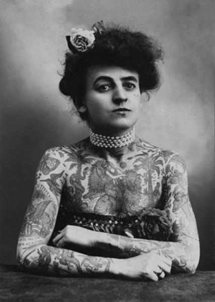 Мод Стивенс Вагнер - первая женщина-татуировщик