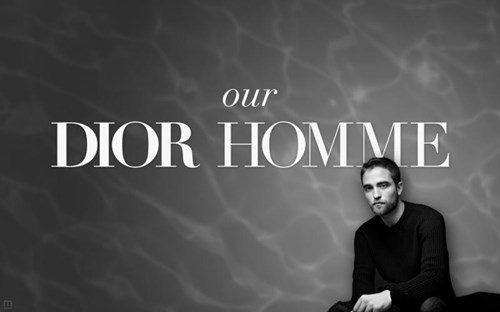 Robert Pattinson - лицо Dior Homme
