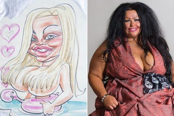 Девушка изменила внешность по карикатуре пляжного художника: что вышло