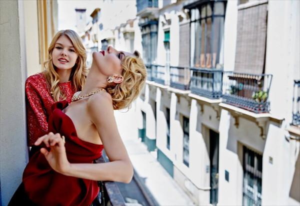 Рената Литвинова в фотосессии со своей дочерью