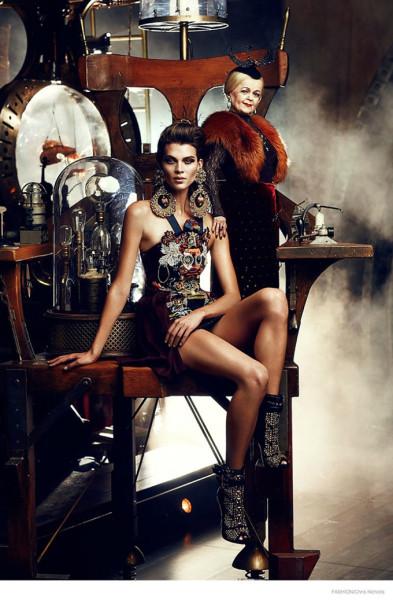 Цирк и мода: Cirque du Soliel в Fashion Magazine 10, 2014