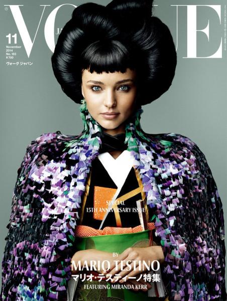 Миранда Керр в роли самурая в самой необычной своей фотосессии для Vogue Japan