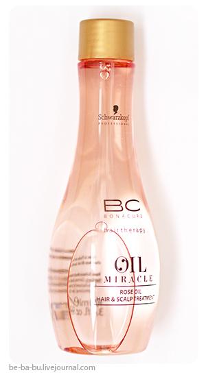 Schwarzkopf Bonacure BC Oil Miracle Rose Oil: шампунь и масло для волос. Обзор, отзыв. Review