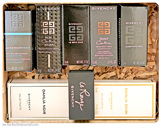 Allure Sample Society by GlamBox - Givenchy Box. Отзыв, обзор.