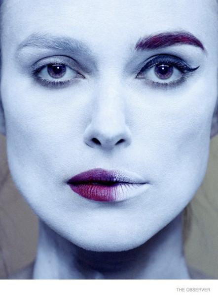 Прекрасная Кира Найтли в The Edit и страшненькая Кира Найтли в The Observer - сравните)