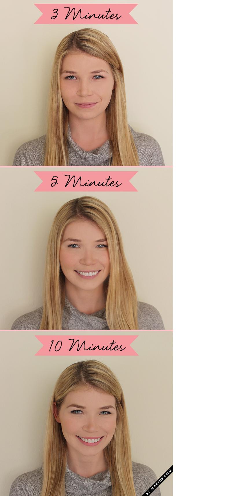 Чем различается 3-х, 5-ти и 10-минутный макияж