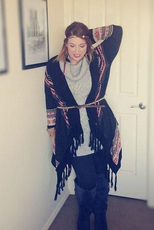 Что интересного можно придумать с платком и шарфом - необычные способы в гифках