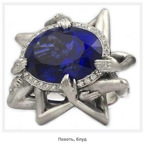 Необычные аксессуары: кольца-символы 7 смертных грехов от Стивена Вебстера