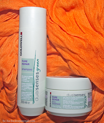 Шампунь Goldwell Dualsenses Green Pure Repair Shampoo и маска Pure Repair 60sec Treatment. Отзыв.