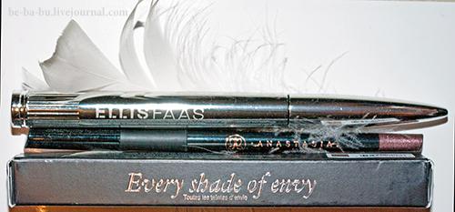 Anastasia Beverly Hills Covet Waterproof Eyeliner (Lavish) + Ellis Faas Mascara (E401, Black). Отзыв Review Swatch