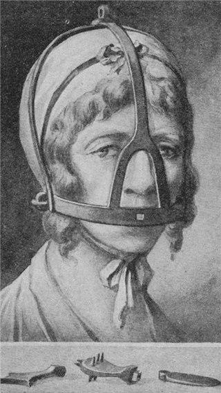 Средневековый прибор против женской болтовни - Scold's bridle