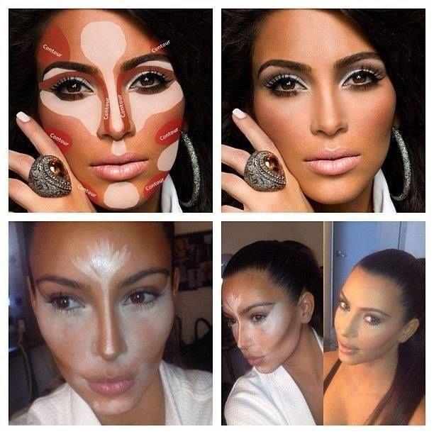 Не повторяйте этого дома: секреты скульптурирования лица Ким Кардашьян.