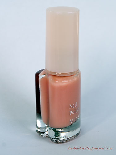 Missha The Style Nail Polish Gel Dressing No.02 Milk Tea. Отзыв. Review