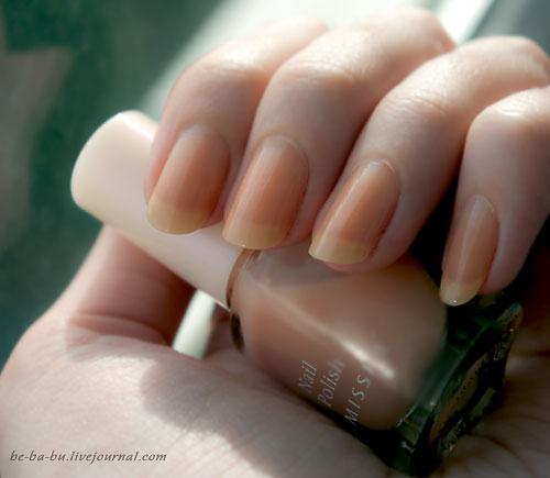 Missha The Style Nail Polish Gel Dressing No.02 Milk Tea. Отзыв. Review