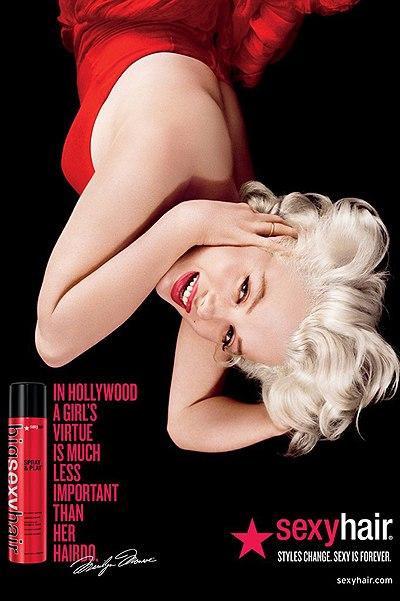 Мэрилин Монро шампунь sexy hair ads реклама Monroe