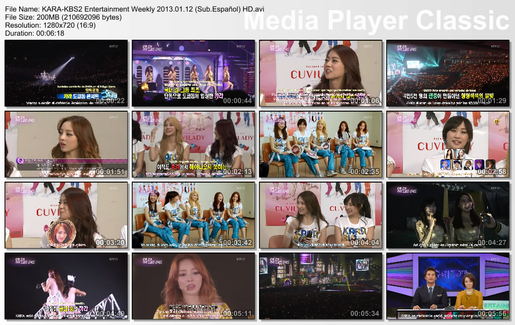 KARA-KBS2 Entertainment Weekly 2013.01.12 (Sub.Español) HD