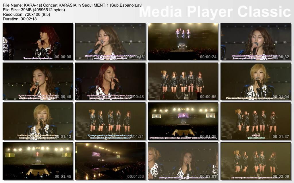 KARA-1st Concert KARASIA in Seoul MENT 1 (Sub.Español)