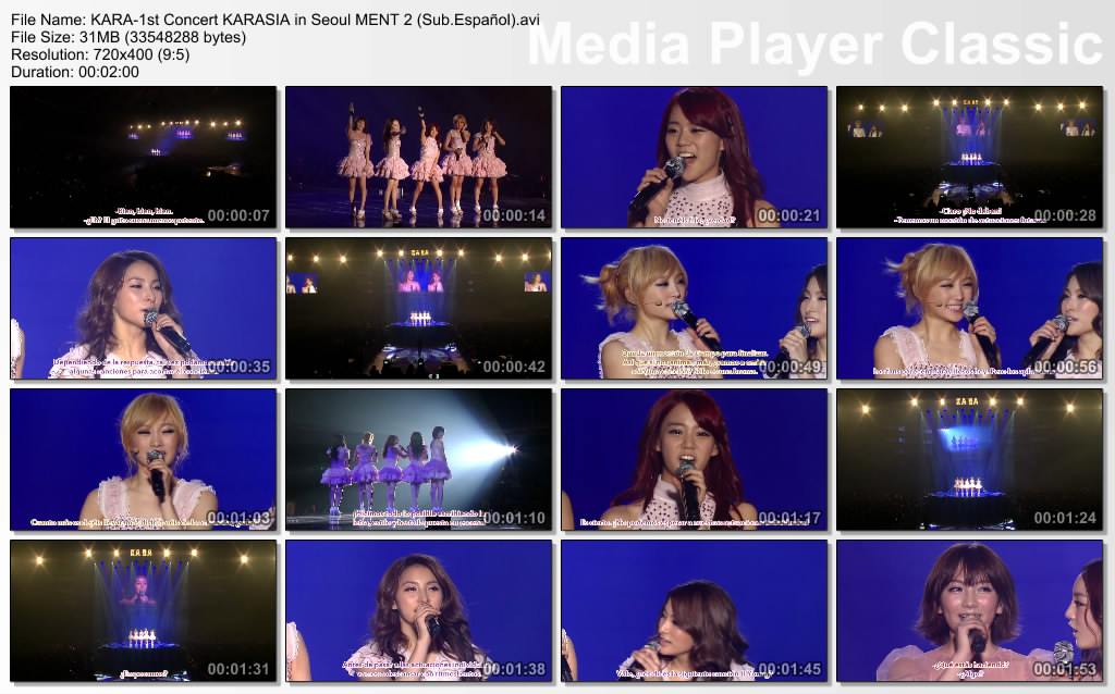 KARA-1st Concert KARASIA in Seoul MENT 2 (Sub.Español)