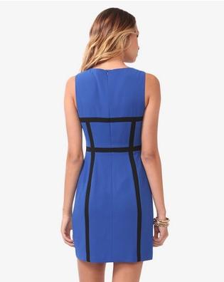 Spiked Contrast Paneled Dress back