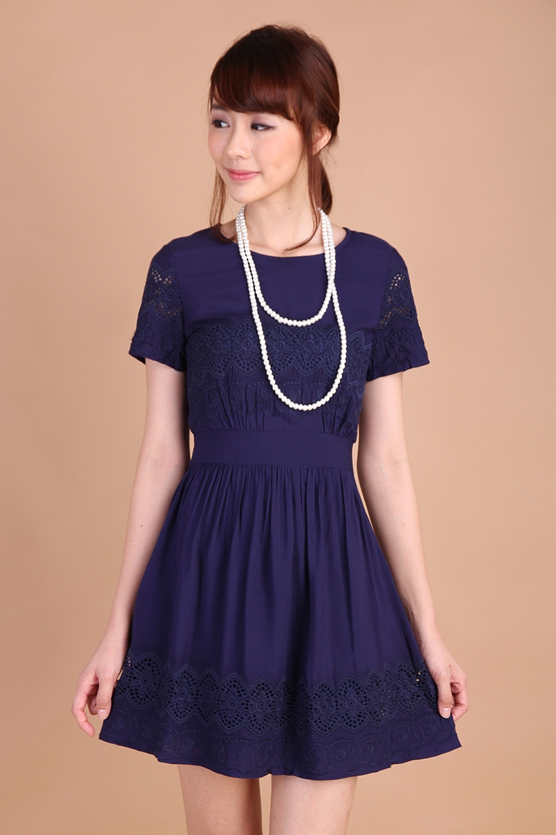 Lily Pirates Peony Garden Dress in Midnight Blue $31