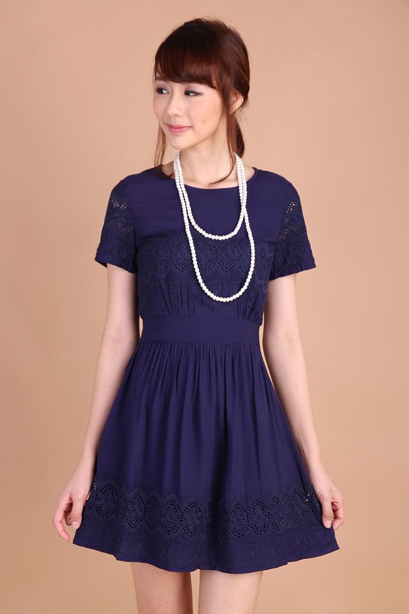 Lily Pirates Peony Garden Dress in Midnight Blue $31