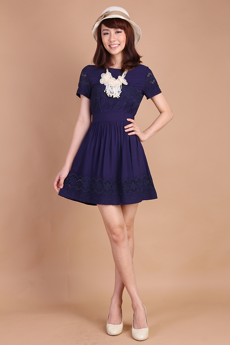 Lily Pirates Peony Garden Dress in Midnight Blue