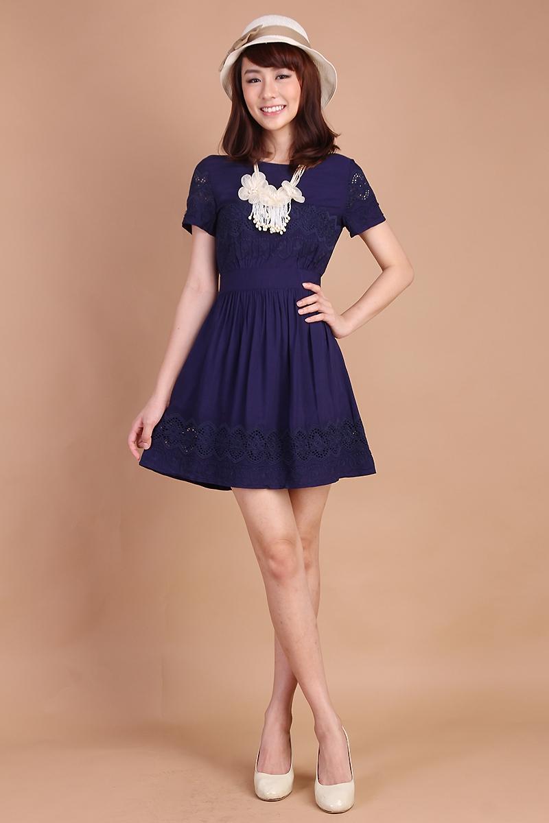 Lily Pirates Peony Garden Dress in Midnight Blue