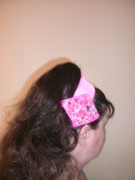 Candy pink headband, with the Pink Confetti hairclip